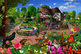 Cats in a Cottage Garden 300 Piece Wooden Jigsaw Puzzle