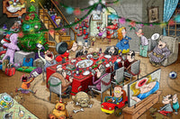 Chaos at Christmas Lunch 300 Piece Wooden Jigsaw Puzzle