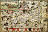 Cornwall 1610 Historical Map 300 Piece Wooden Jigsaw Puzzle