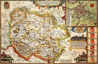 Herefordshire 1610 Historical Map 300 Piece Wooden Jigsaw Puzzle