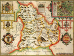 Breconshire Historical Map 1000 Piece Jigsaw Puzzle (1610) - All Jigsaw Puzzles UK  - 1