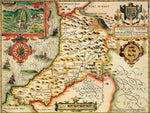 Cardiganshire Historical Map 1000 Piece Jigsaw Puzzle (1610) - All Jigsaw Puzzles UK  - 1