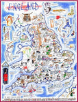 Jigsaw Puzzle - Comical Map Of England - Tim Bulmer 1000 Piece Jigsaw Puzzle