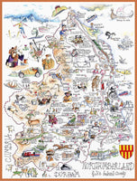 Jigsaw Puzzle - Comical Map Of Northumberland - Tim Bulmer 1000 Piece Jigsaw Puzzle