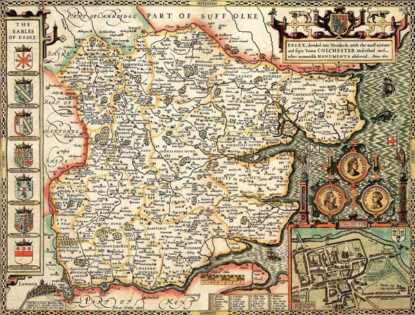 Essex Historical Map 1000 Piece Jigsaw Puzzle (1610) - All Jigsaw Puzzles UK  - 1