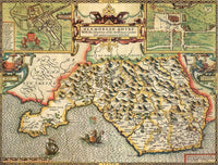 Glamorgan Historical Map 1000 Piece Jigsaw Puzzle (1610) - All Jigsaw Puzzles UK  - 1