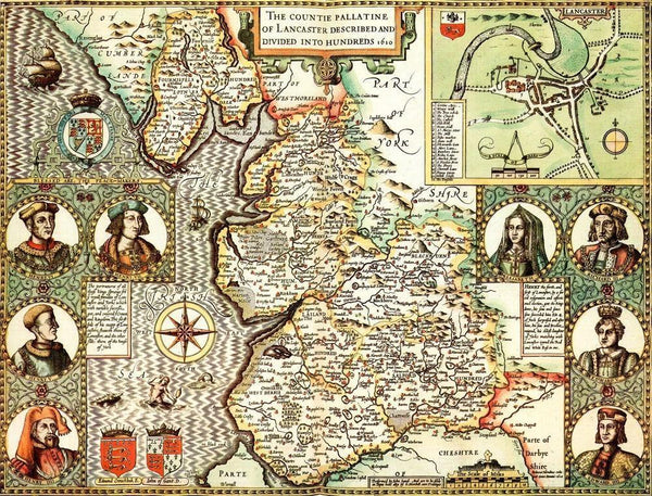 Lancashire Historical Map 1000 Piece Jigsaw Puzzle (1610) - All Jigsaw Puzzles UK  - 1