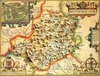 Montgomeryshire Historical Map 1000 Piece Jigsaw Puzzle (1610) - All Jigsaw Puzzles UK  - 1