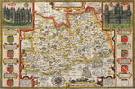 Surrey 1610 Historical Map 300 Piece Wooden Jigsaw Puzzle