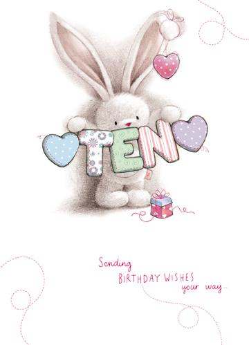 Age 10 - 10th Birthday - Bebunni Ten