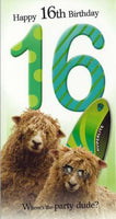Age 16 - 16th Birthday - Sheep With Surf Board