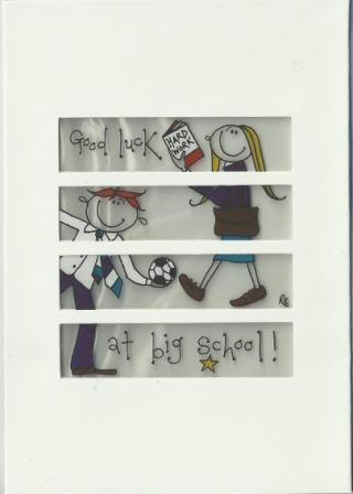 Good Luck Card - Good Luck at big school!
