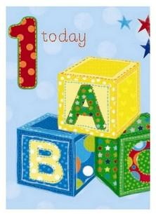 Age 1 - 1st Birthday - ABC Blocks