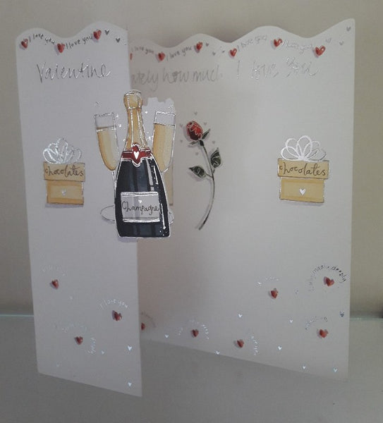 Valentine Card - Champagne and Chocolates