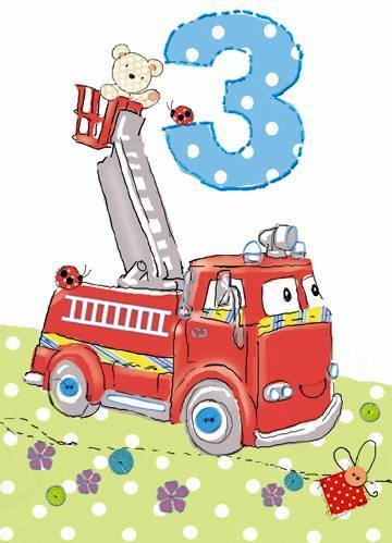 Age 3 - 3rd Birthday - Fire Engine