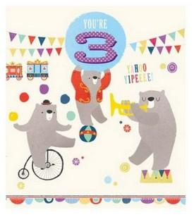 Age 3 - 3rd Birthday - Bears