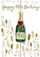 Age 40 - 40th Birthday - Champagne and Glasses