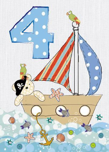 Age 4 - 4th Birthday - Pirate Ship