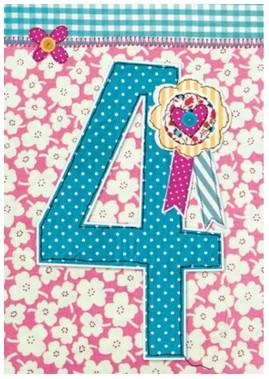 Age 4 - 4th Birthday - Rosette