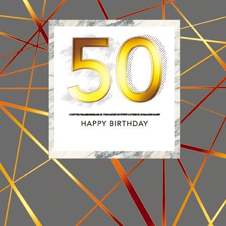 Age 50 - 50th Birthday - Abstract Lines