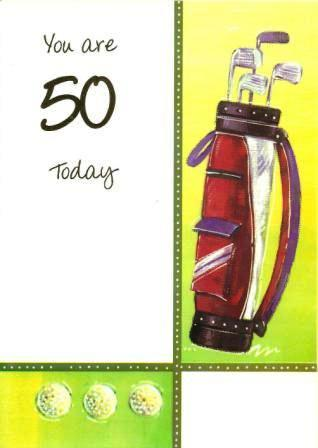 Age 50 - 50th Birthday - Golf Bag & Clubs