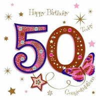 Age 50 - 50th Birthday - 50th Congratulations