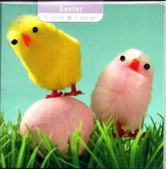 Easter Cards - Pack of 5 - Chick and Egg