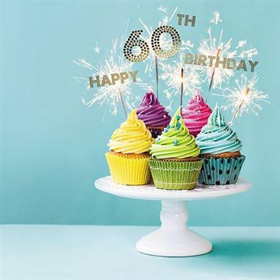 Age 60 - 60th Birthday - Cupcake Stand