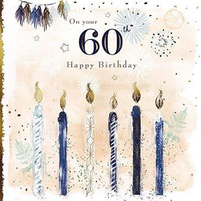 Age 60 - 60th Birthday - Birthday Candles