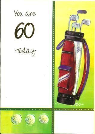 Age 60 - 60th Birthday - Golf Clubs