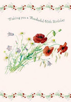 Age 60 - 60th Birthday - Poppies & Flowers