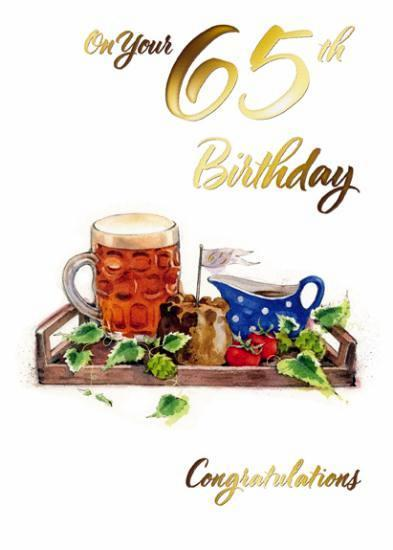 Age 65 - 65th Birthday - Pie & Pint