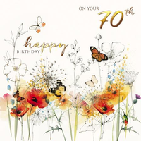 Age 70 - 70th Birthday - Wild Poppies