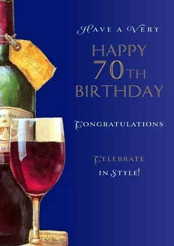 Age 70 - 70th Birthday - Happy 70th Birthday
