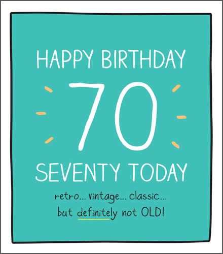 Age 70 - 70th Birthday - Retro... Vintage... Classic...