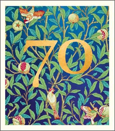 Age 70 - 70th Birthday - William Morris Pattern