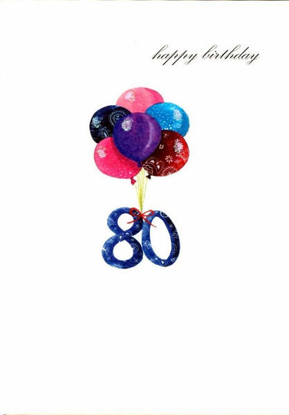 Age 80 - 80th Birthday - Balloons