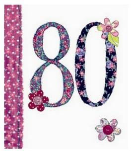 Age 80 - 80th Birthday - Fabrics 80