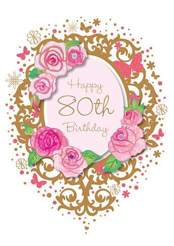 Age 80 - 80th Birthday - 80th Flowers