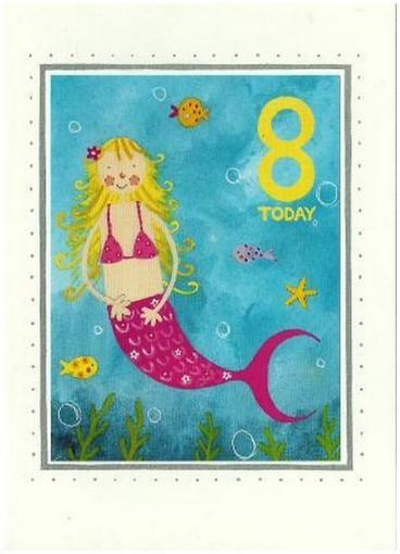 Age 8 - 8th Birthday - Mermaid