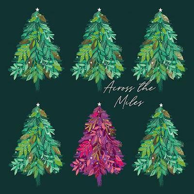 Christmas Card - Across The Miles - Foliage Trees
