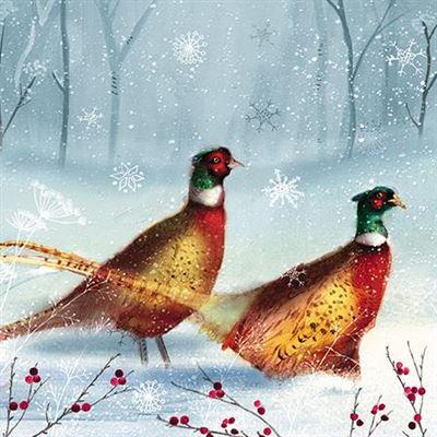 Charity Christmas Cards - Pack of 8 - Bright Pheasants