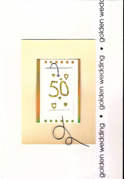 Anniversary Card - 50th Golden Anniversary - 50