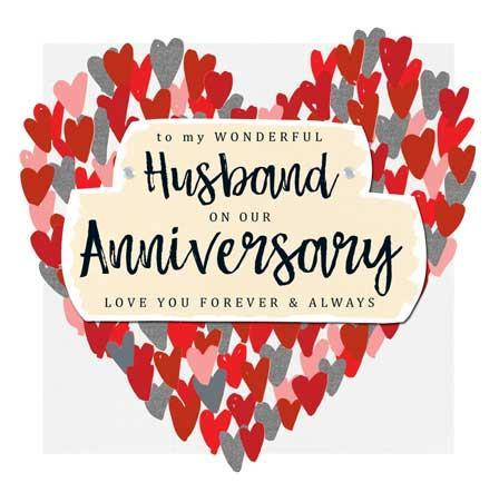 Anniversary Card - Husband Anniversary - Heart of Hearts
