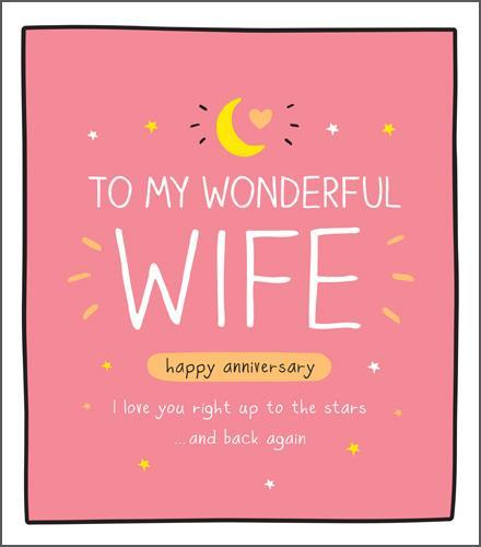 Anniversary Card - Wife Anniversary - Love You To Stars
