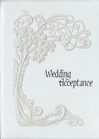 Wedding Acceptance Card - Garland