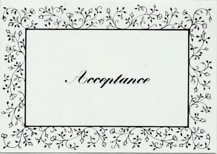 Wedding Acceptance Card - Foliage Border