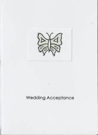 Wedding Acceptance Card - Butterfly