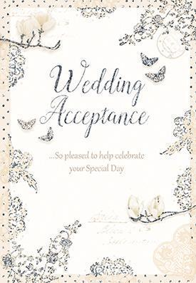 Wedding Acceptance Card - Butterflies