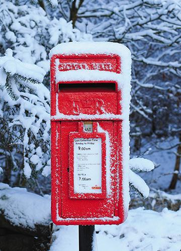 Christmas Card - Across The Miles - Post Box